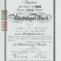 Mack, AB, 1918