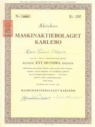 Maskin AB Karlebo, 1953