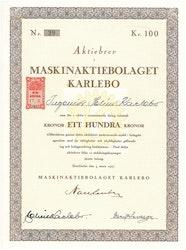 Maskin AB Karlebo, 1927