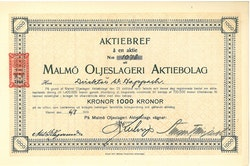 Malmö Oljeslageri AB, 1919