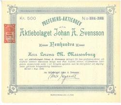 Johan A. Svensson, AB
