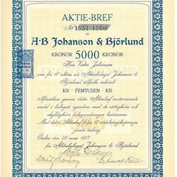 Johanson & Björklund, AB