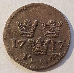 Karl XII 1 Öre 1717