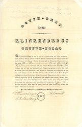 Klinkenbergs Gruve Bolag 1839