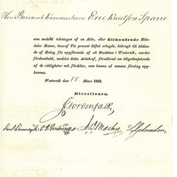 Bolag i uppförande af ett Stadshuse i Westervik 1842