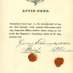 Casperbo Silfer Gruva 1847