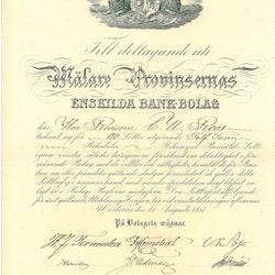 Mälare Provinsernas Enskilda Bank-bolag 1857