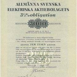 Allmänna Svenska Elektriska AB 3 1/2%  ASEA