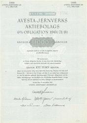 Avesta Jernverks AB 6% 1961/71/81