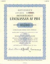 Lånekassan af 1914, AB