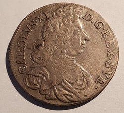 Karl XI, 2 Mark 1695
