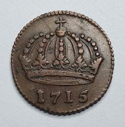 Karl XII, 1 Daler, Krona, 1715