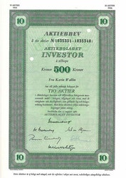 Investor, AB 500 kr