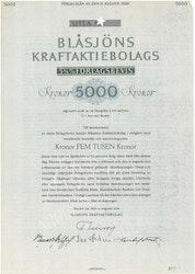 Blåsjöns Kraft AB, 5, 3/4 %