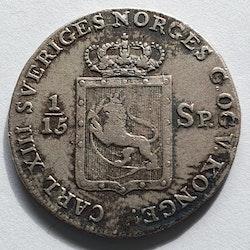 1817, Carl XIII, 8 skilling Species