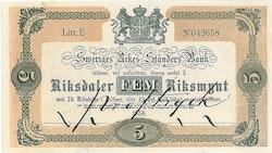5 Riksdaler Riksmynt, 1858
