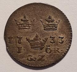 *Fredrik I, 1 Öre 1733