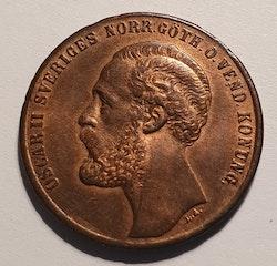 *Oscar II, 2 öre 1873