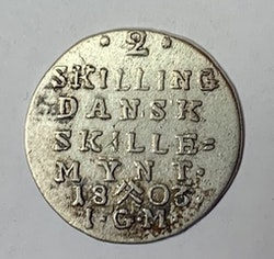 Christian VII, 2 Skilling 1803