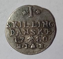 Christian VII, 1 Skilling 1780
