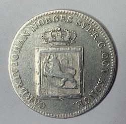 1819, Carl XIV Johan, 24 Skilling Species,