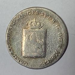 1819, Carl XIII, 8 Skilling Species,