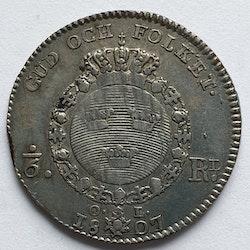 *Gustav IV Adolf, 1/6 Riksdaler 1807