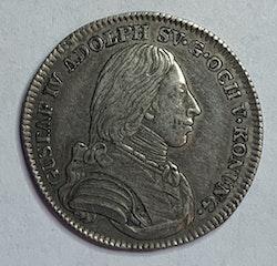 Gustav IV Adolf 1/6 Riksdaler 1802