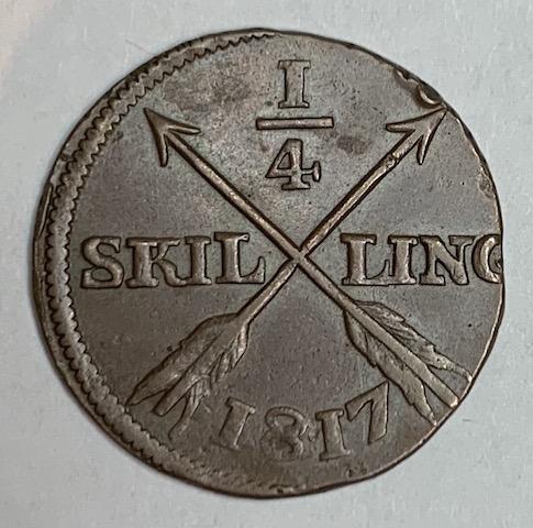 *Karl XIII, 1/4 Skilling 1817