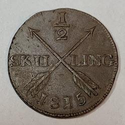 Karl XIII, 1/2 Skilling 1815