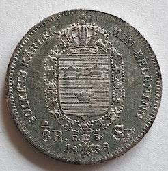 *Karl XIV Johan 1/8 Riksdaler Specie 1833
