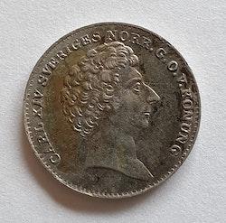 *Karl XIV Johan 1/16 Riksdaler Specie 1835