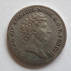 *Karl XIV Johan 1/12 Riksdaler Specie 1833/31