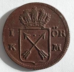 *Fredrik I, 1 öre KM, 1749