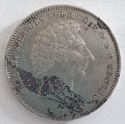 *Karl XIV Johan 1/2 Riksdaler Specie 1831