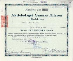 Gunnar Nilsson, AB