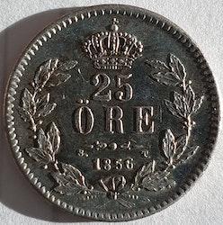 *Oscar I, 25 Öre 1856