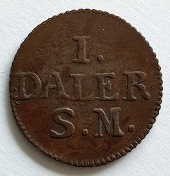 *Karl XII, 1 Daler, Krona, 1715