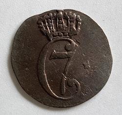 1780, Christian VII, 1 Skilling