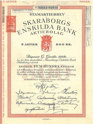 Skaraborgs Enskilda Bank, 500 kr