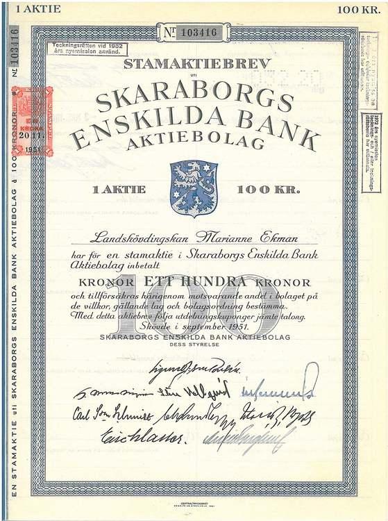 Skaraborgs Enskilda Bank, 1963