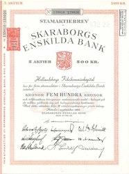 Skaraborgs Enskilda Bank, 500 kr, 1962