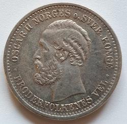 1904, Oskar II, 1 Krona