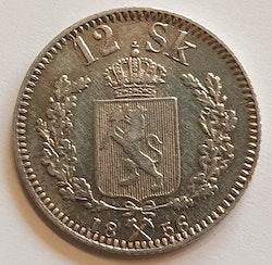 1856, Oskar I, 12 Skilling