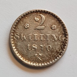 1870, Carl XV, 2 Skilling