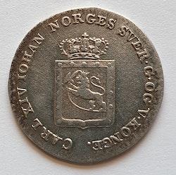 1825, Carl XIV Johan, 2 Skilling Species