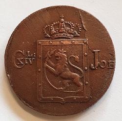 1820, Carl XIV Johan, 1 Skilling Species,