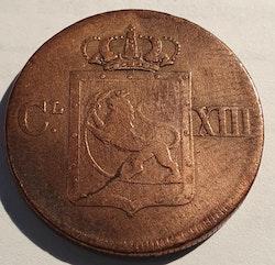 1816, Carl XIII, 1 skilling Species