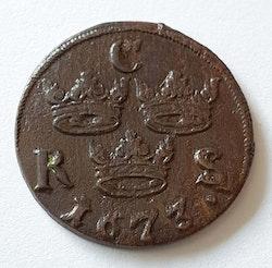Karl XI 1/6 Öre SM 1673/2