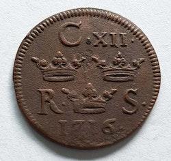 Karl XII 1/6 Öre 1716